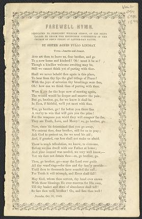 Farewell Hymn (Lindsay) (1849)