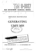 Cover of: Ordnance Maintenance: Generating Unit M18