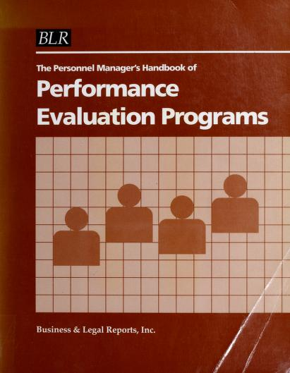 The Personnel Manager's Handbook of Performance Evaluation Programs by S. E. Parnes